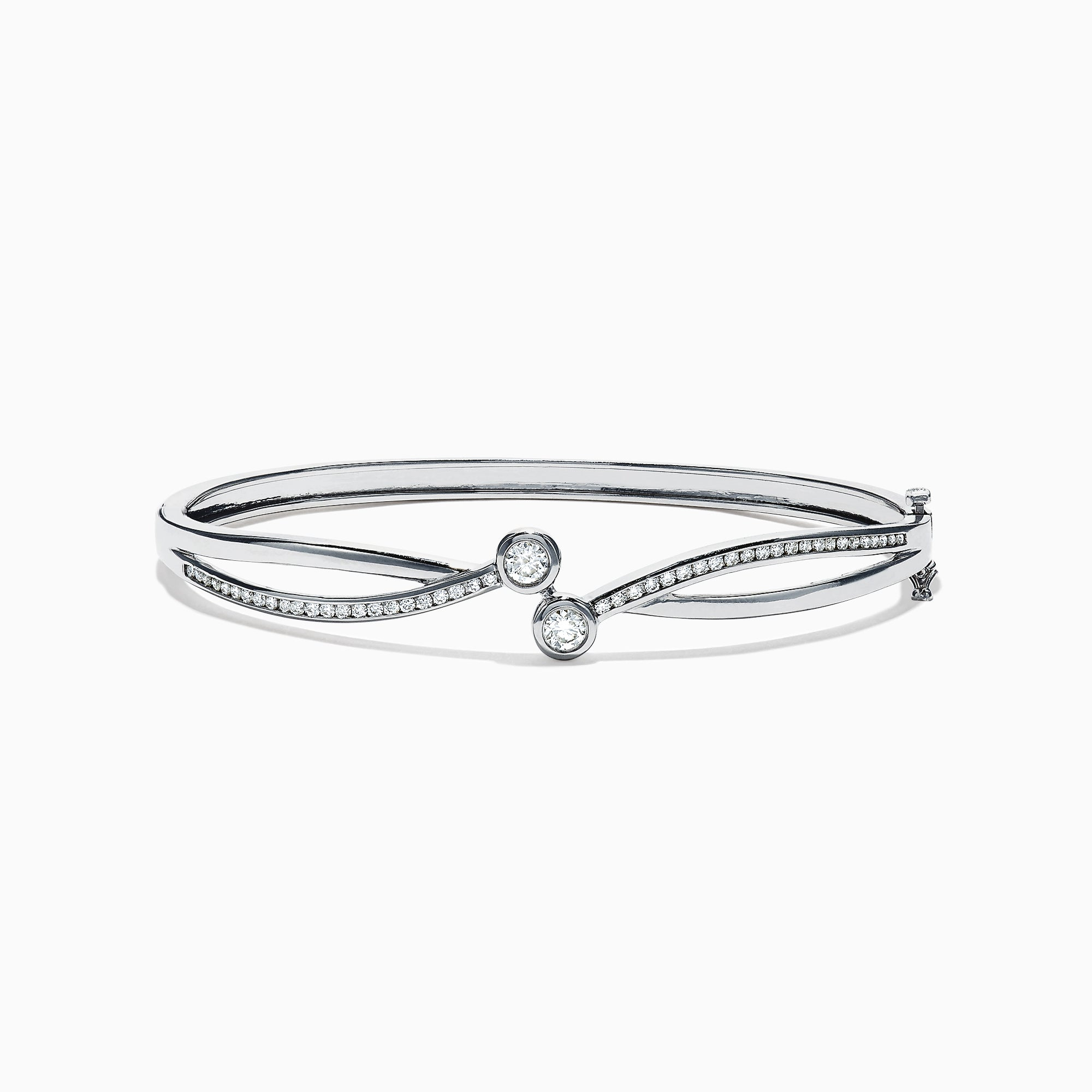 Effy 14K White Gold Diamond Bangle, 0.74 TCW