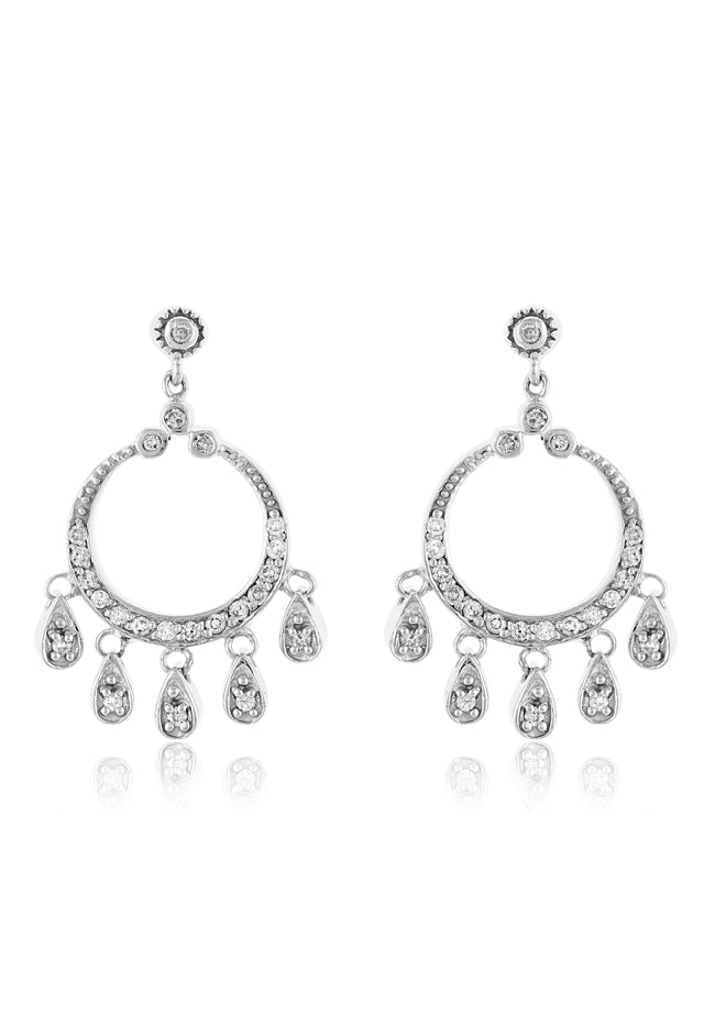 Effy 14K White Gold Diamond Earrings, 0.45 TCW
