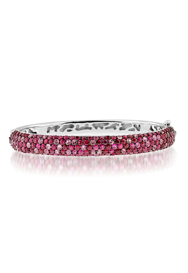 Effy Sterling Silver Pink Sapphire Bangle, 10.19 TCW