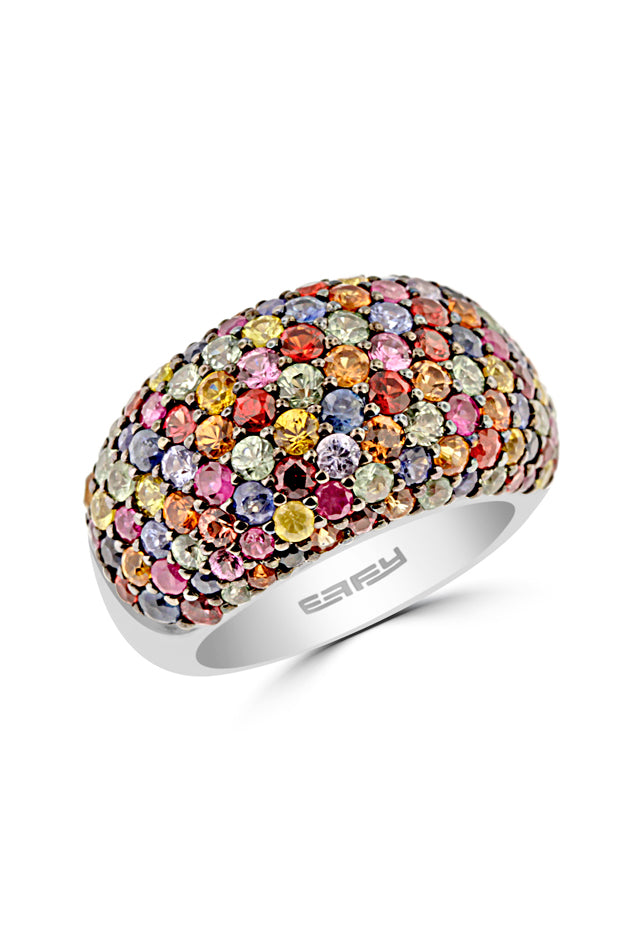 Effy Sterling Silver Multi Sapphire Ring, 5.62 TCW