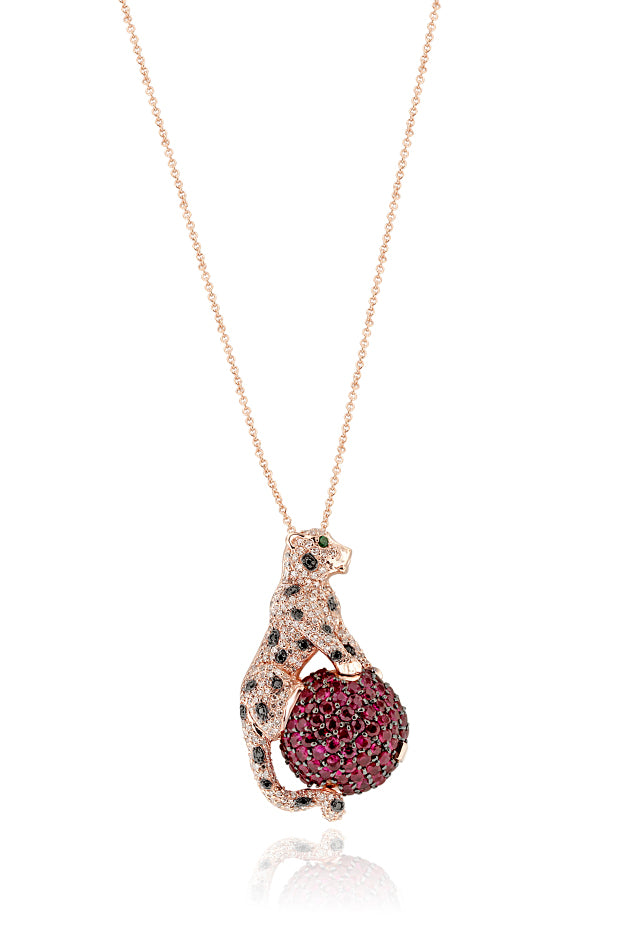 Effy Signature 14K Rose Gold Ruby, Diamond and Emerald Pendant, 3.33 TCW