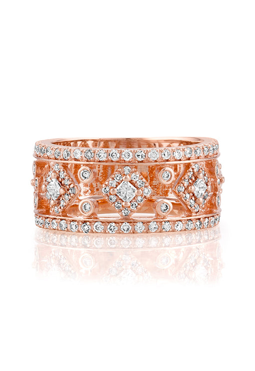 Effy 14K Rose Gold Diamond Ring, 0.98 TCW