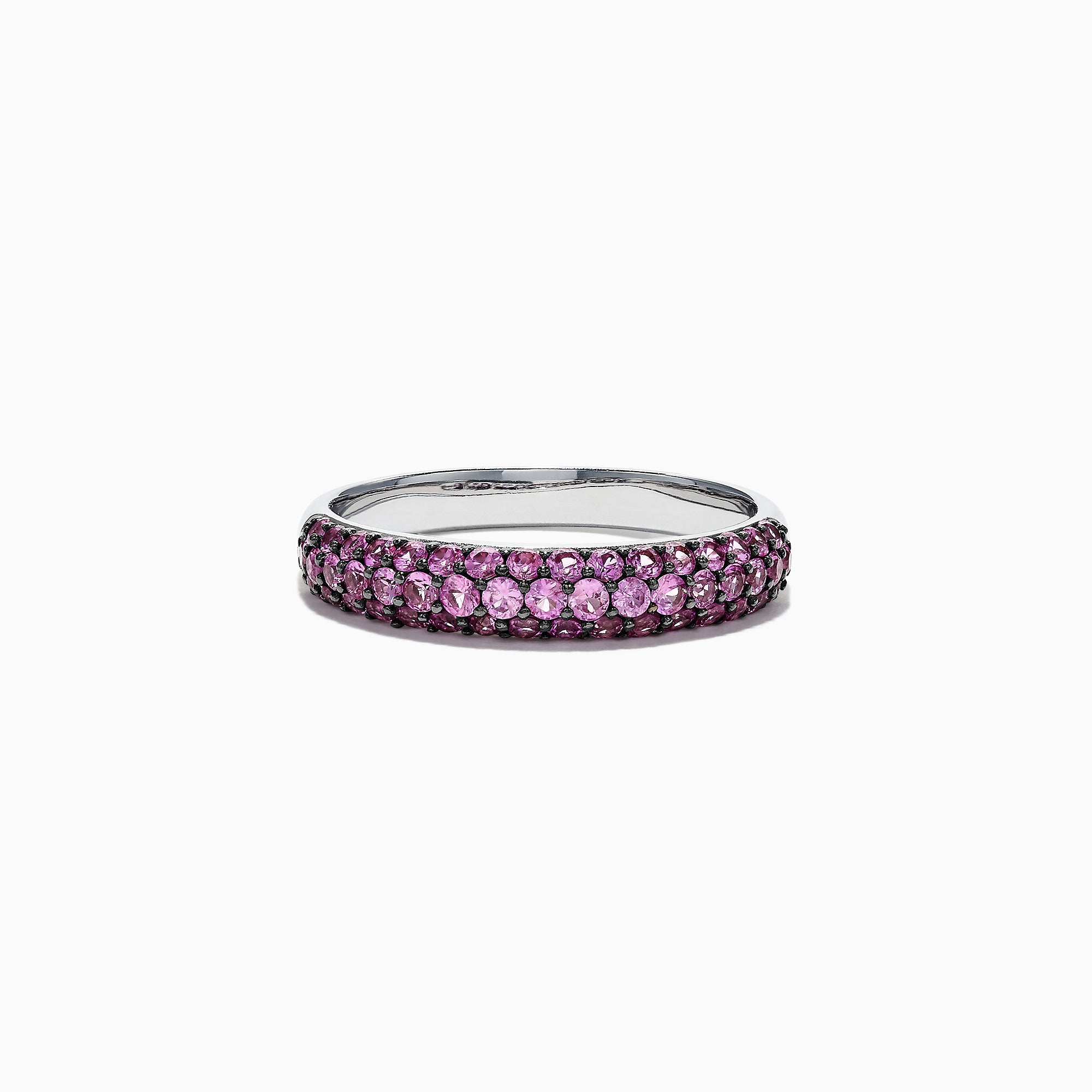 Effy 14K White Gold Pink Sapphire Ring, 0.77 TCW