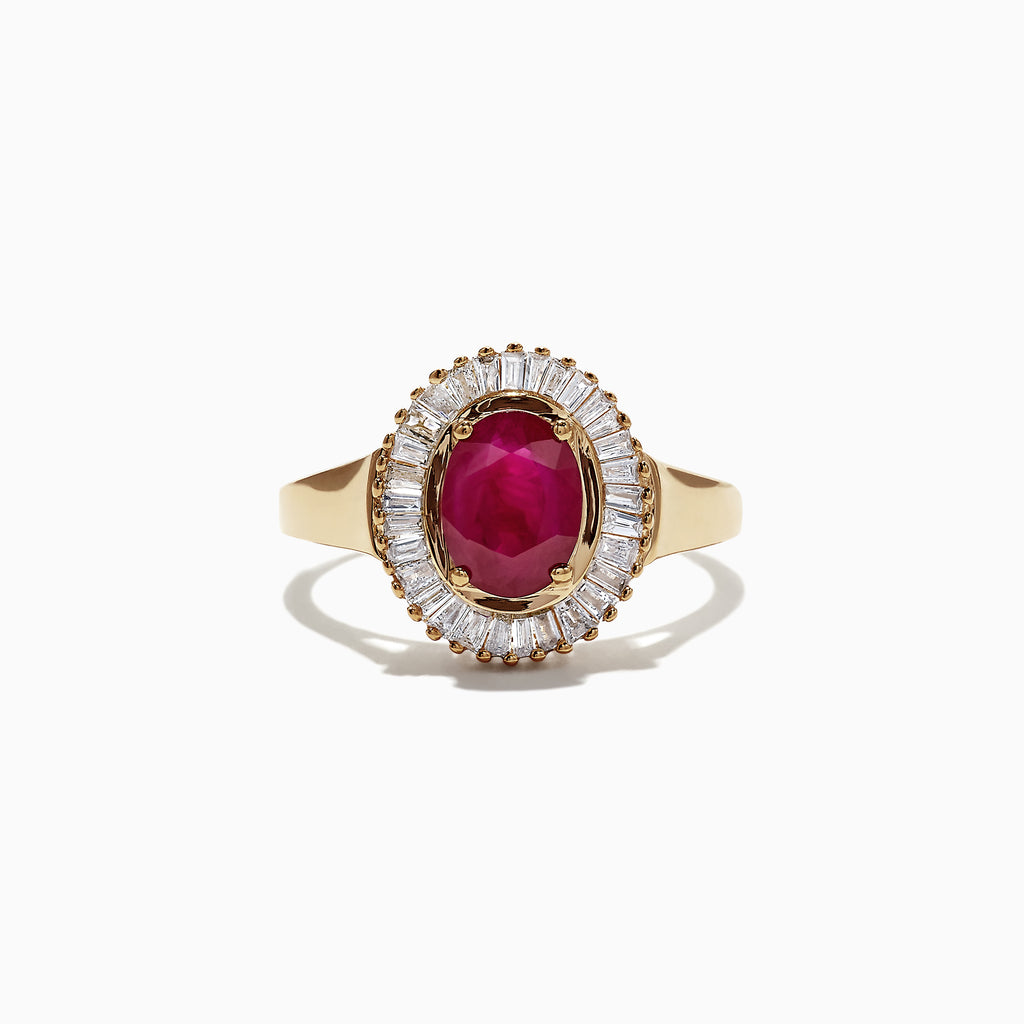 Effy 14K Yellow Gold Ruby and Diamond Ring, 1.92 TCW