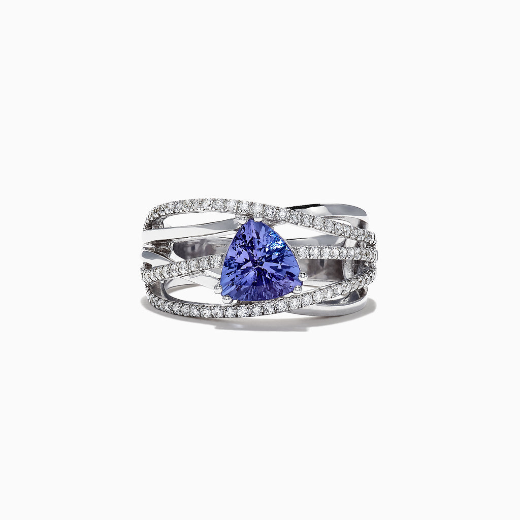 Effy 14K White Gold Tanzanite and Diamond Ring, 1.97 TCW