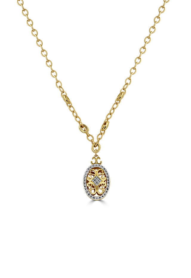Effy 14K Yellow Gold Diamond Pendant, 0.73 TCW