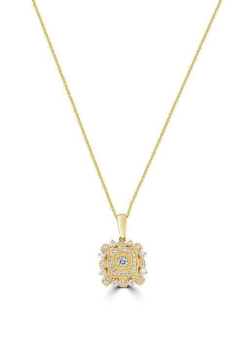 Effy 14K Yellow Gold Diamond Pendant, 0.53 TCW