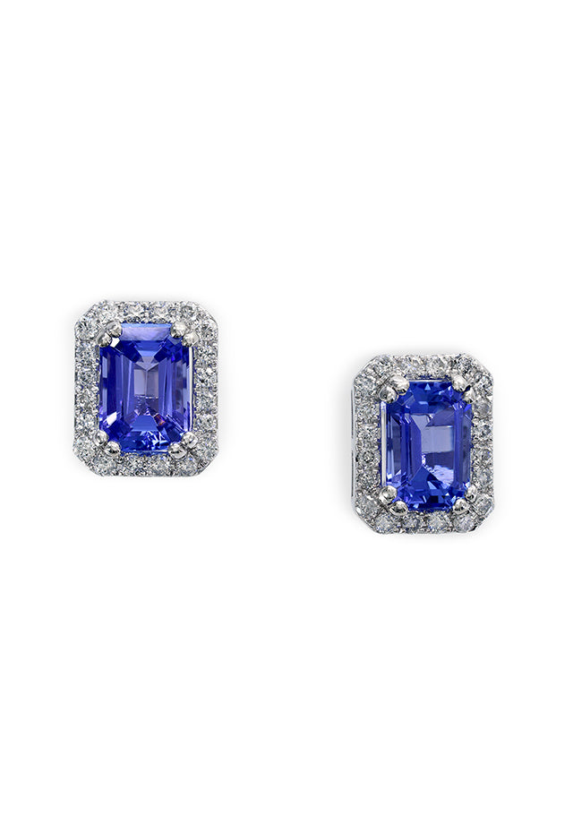 Effy Gemma 14K White Gold Tanzanite and Diamond Earrings, 1.96 TCW