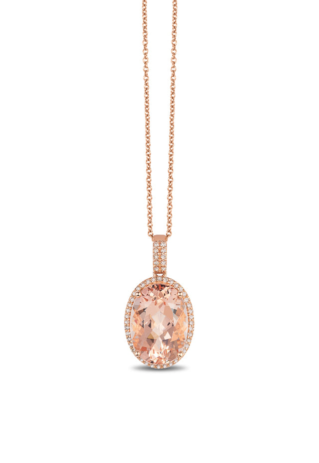 Effy Blush 14K Rose Gold Morganite and Diamond Pendant, 5.45 TCW