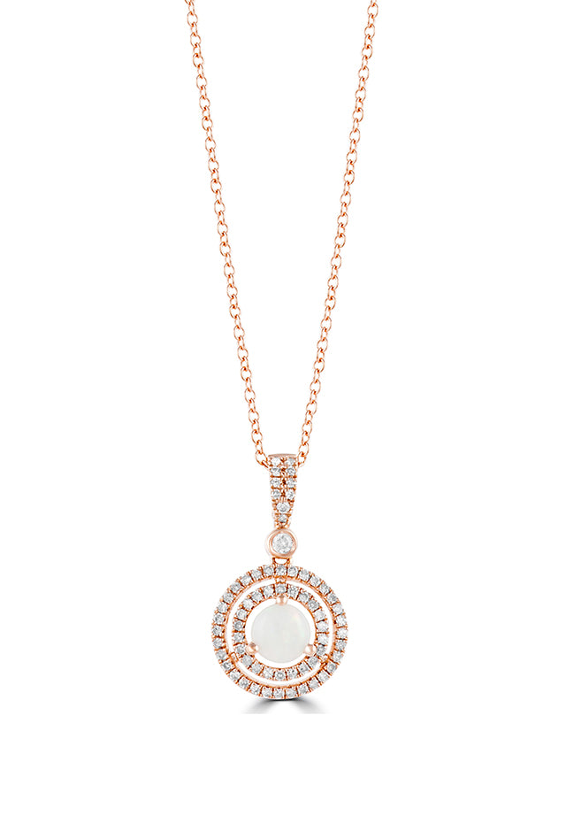 Effy Aurora 14K Rose Gold Opal and Diamond Pendant, 0.67 TCW