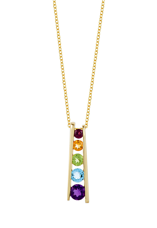 Effy Mosaic 14K Yellow Gold Multi Gemstone Pendant, 1.40 TCW