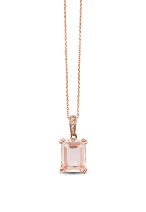 Effy Blush 14K Rose Gold Morganite and Diamond Pendant, 2.58 TCW