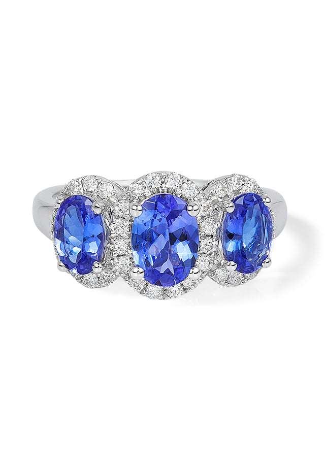 Effy Gemma 14K White Gold Tanzanite and Diamond Ring, 2.35 TCW