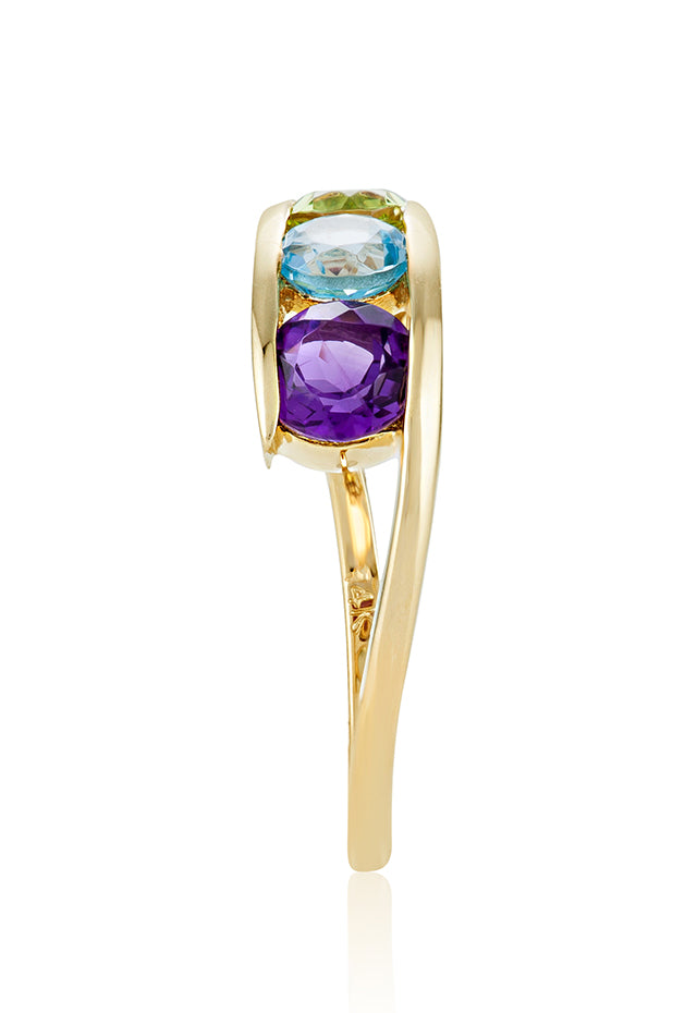 Effy Mosaic 14K Yellow Gold Multi Gemstone Ring, 1.33 TCW