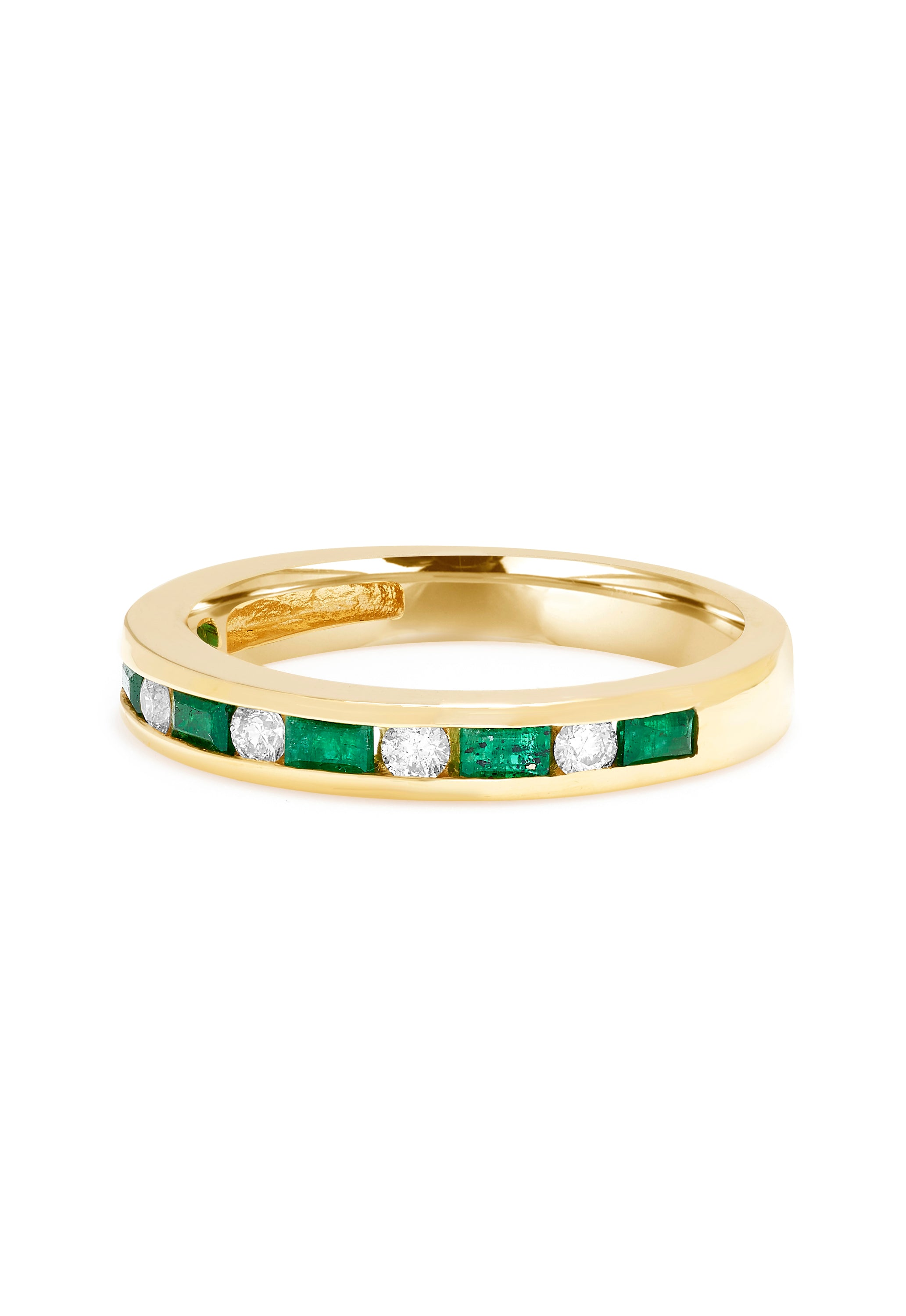 Effy Brasilica 14K Yellow Gold Emerald and Diamond Channel-Set Ring, 0.66 TCW