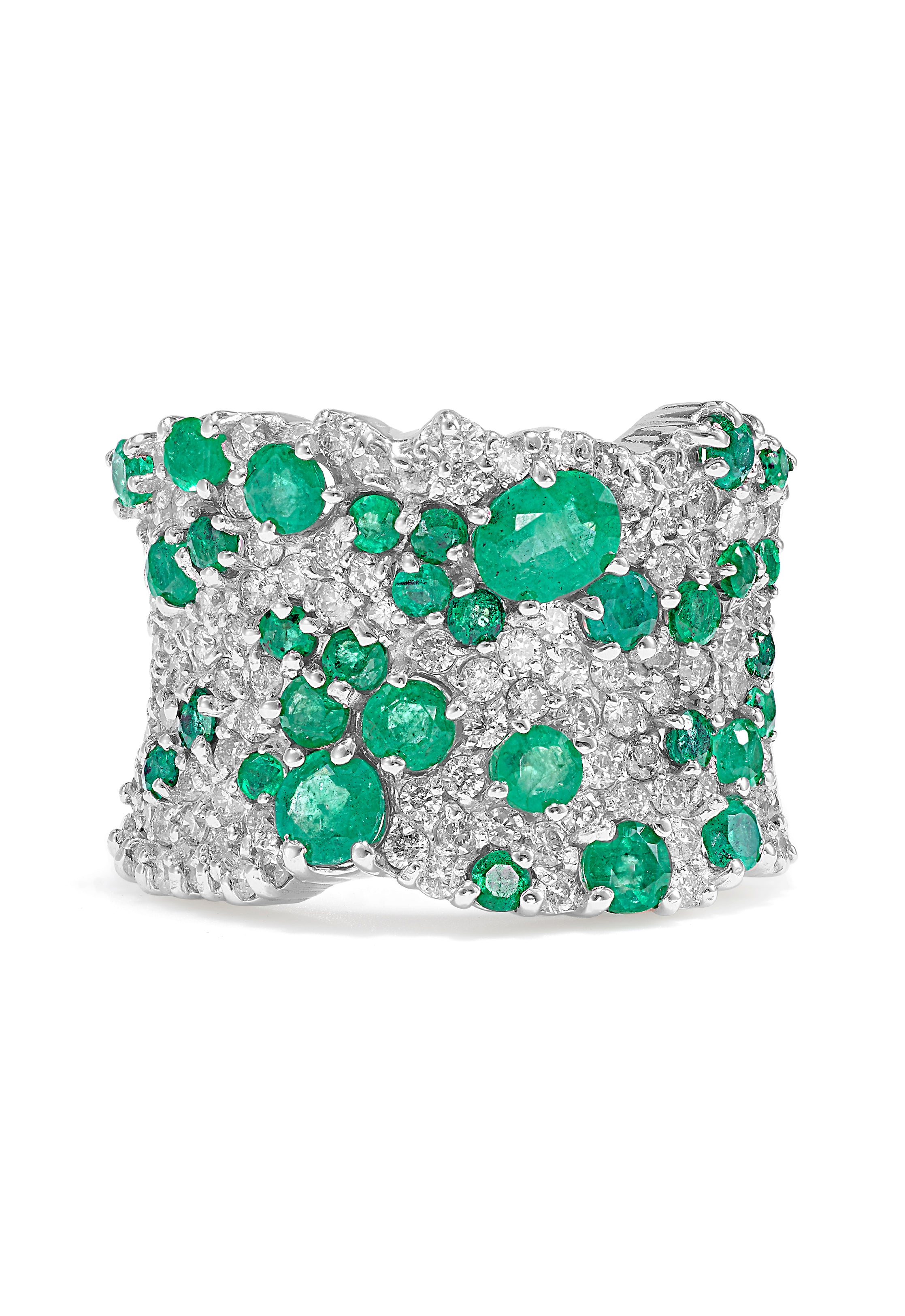 Effy Brasilica 14K White Gold Emerald and Diamond Ring, 3.35 TCW