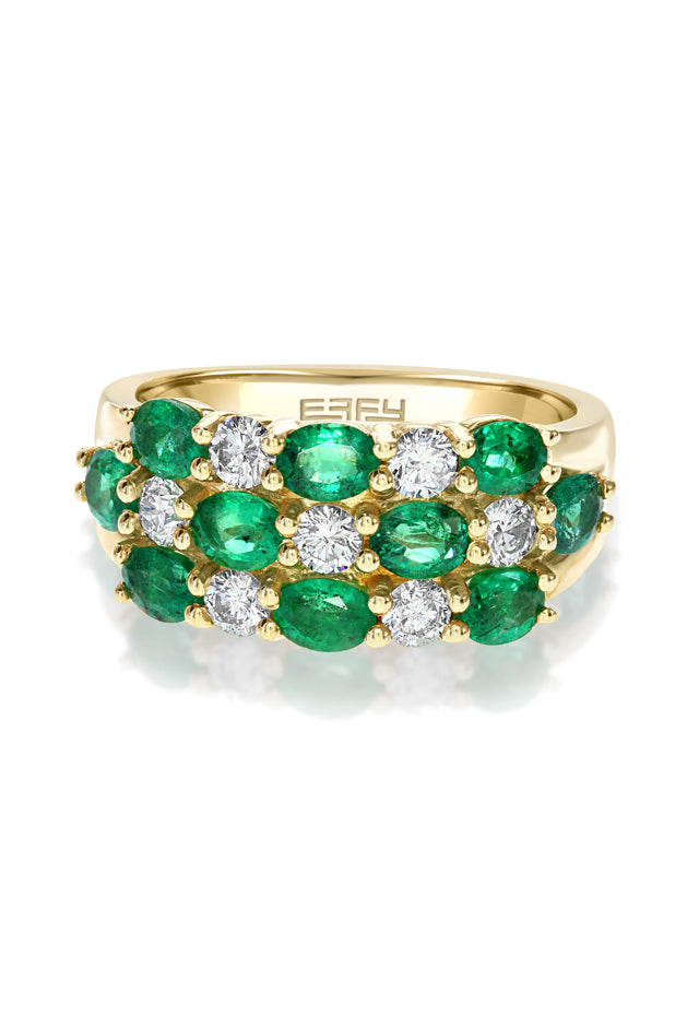 Effy Brasilica 14K Yellow Gold Emerald and Diamond Ring, 2.45 TCW