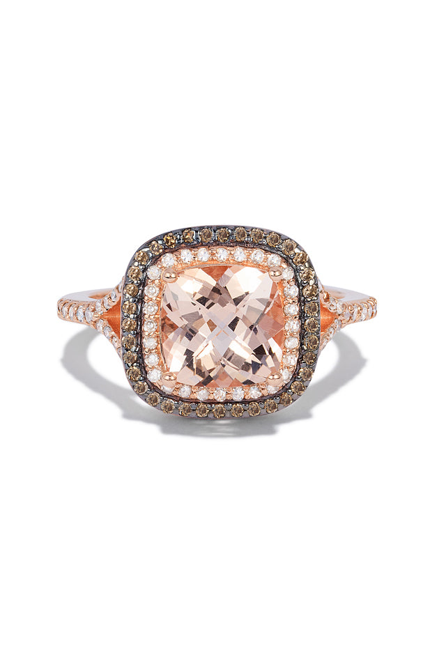 Effy Blush 14K Rose Gold Morganite and Diamond Ring, 2.05 TCW