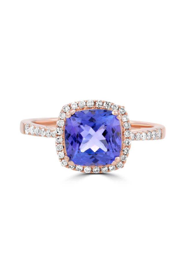 Effy Gemma 14K Rose Gold Tanzanite and Diamond Ring, 2.53 TCW