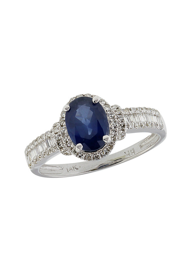 Gemma Blue Sapphire and Diamond Ring, 1.71 TCW