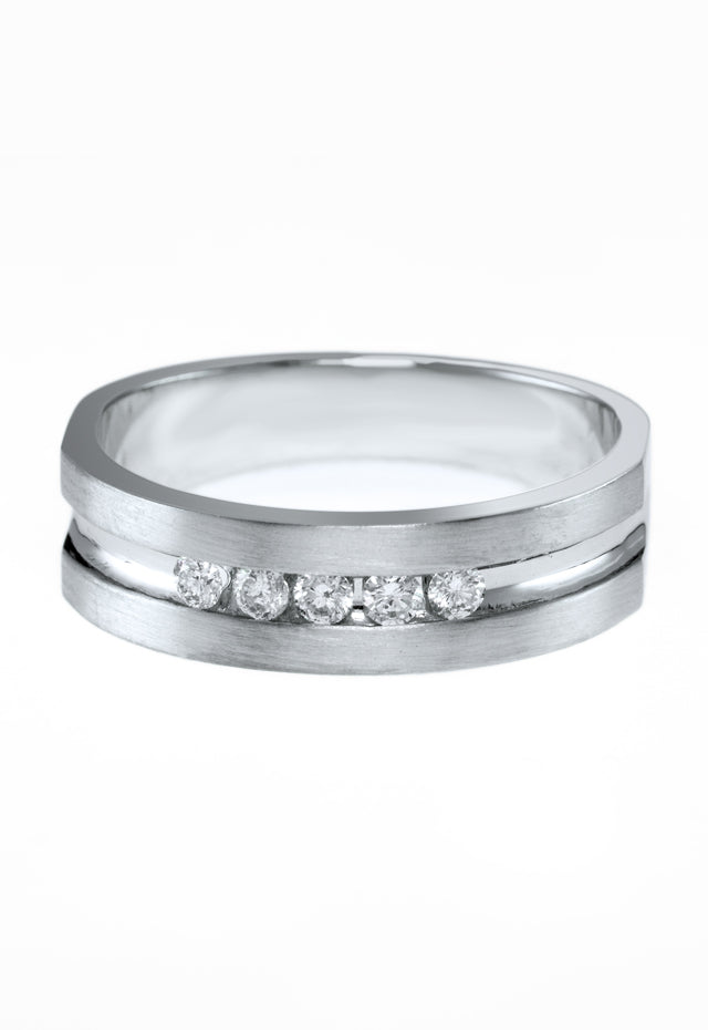 Effy Men's Men's 14K White Gold Diamond Ring, .25 TCW