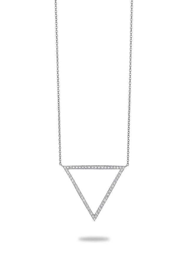 Effy Pave Classica 14K White Gold Diamond Necklace, 0.24 TCW