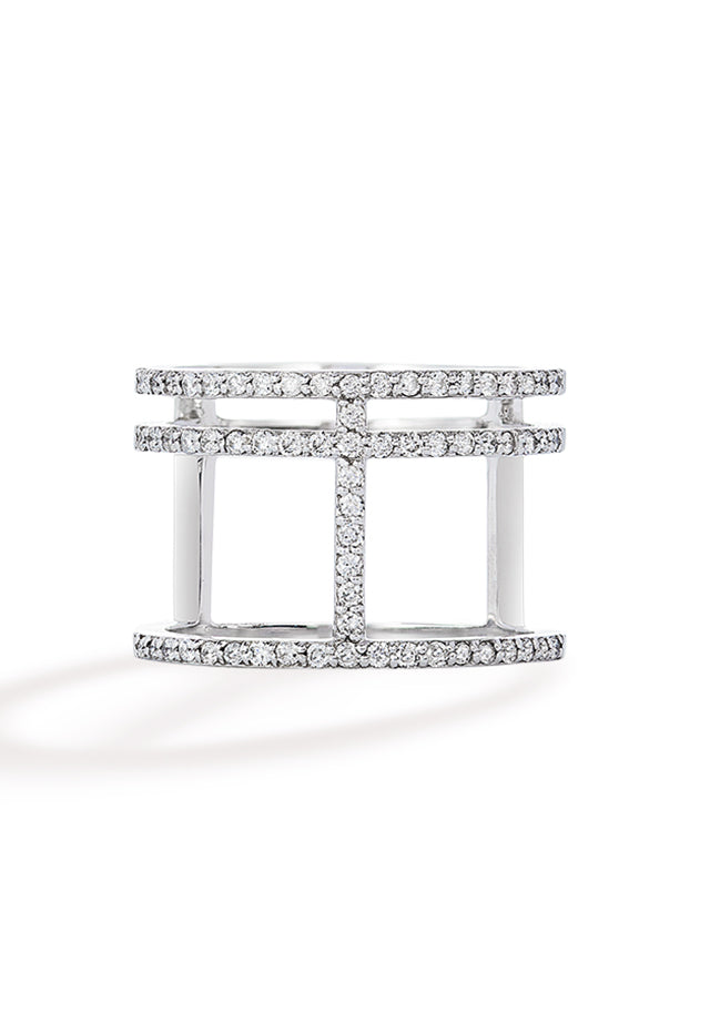 Effy Pave Classica 14K White Gold Diamond Ring, 0.47 TCW
