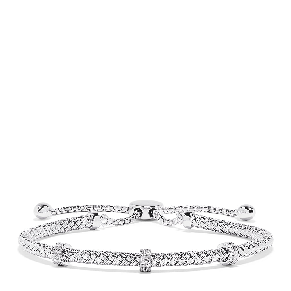 Effy 925 Sterling Silver Diamond Accent Bracelet, 0.15 TCW