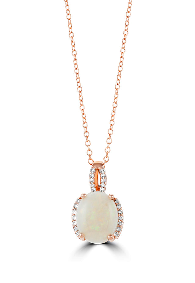 Effy Aurora 14K Rose Gold Opal and Diamond Pendant, 1.52 TCW