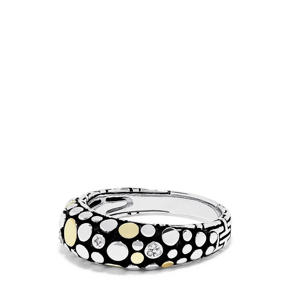 Effy 925 Sterling Silver & 18K Yellow Gold Diamond Accented Ring, 0.03 TCW