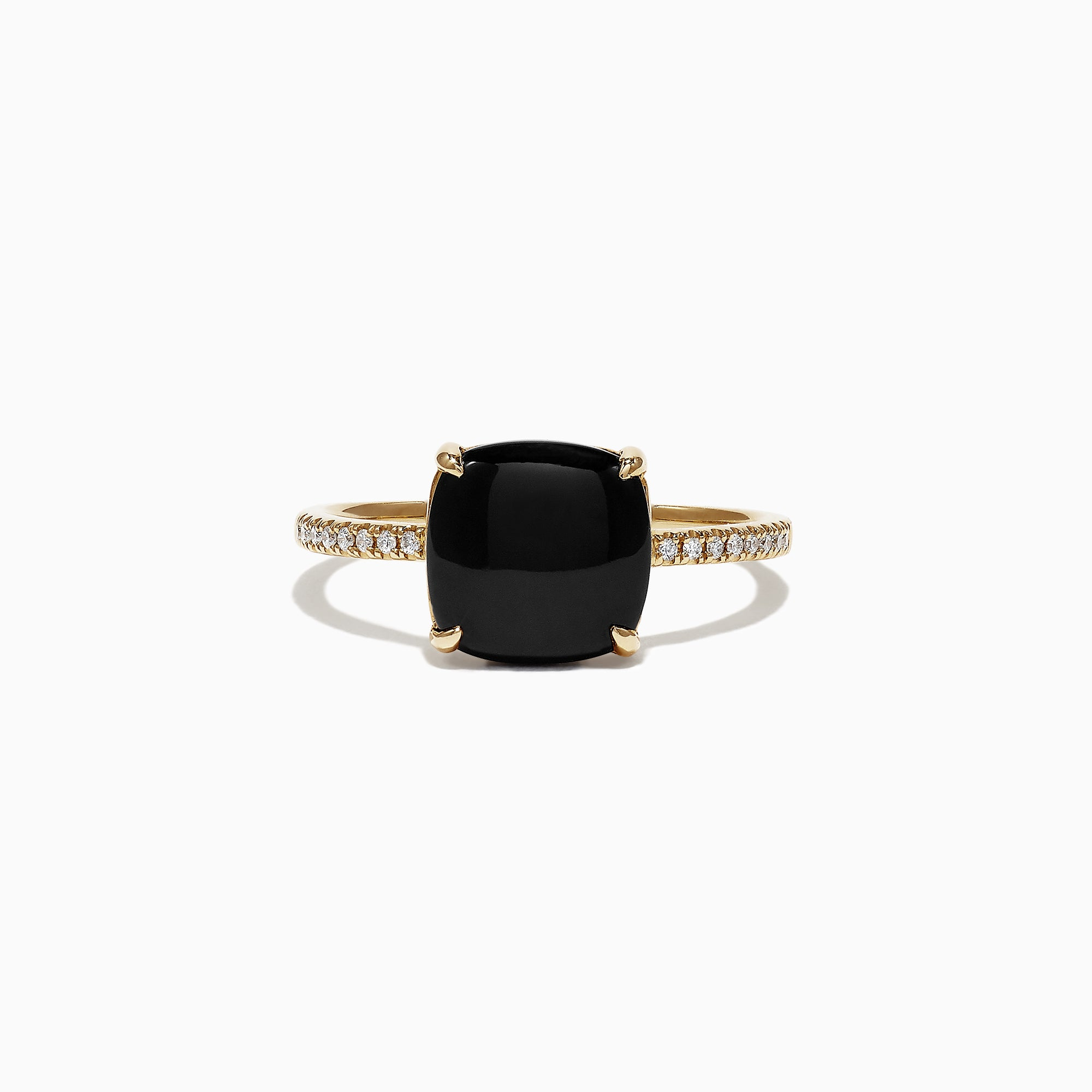 Effy Eclipse 14K Yellow Gold Diamond and Onyx Ring, 1.40 TCW