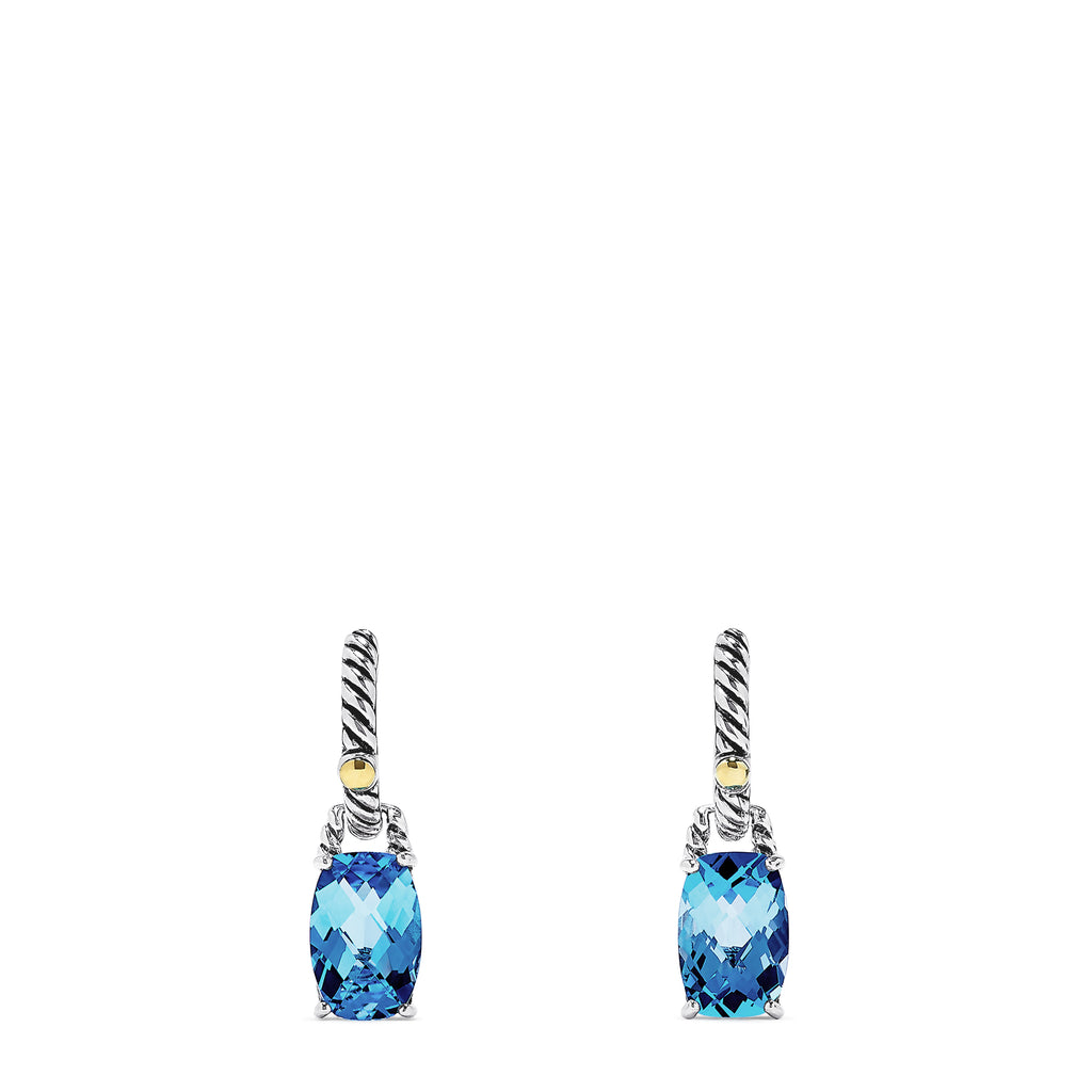 Effy Sterling Silver Blue Topaz Earrings, 8.85 TCW