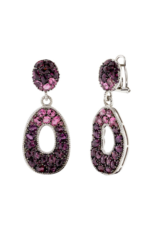 Balissima Sterling Silver Mix Stone Earrings, 14.80 TCW