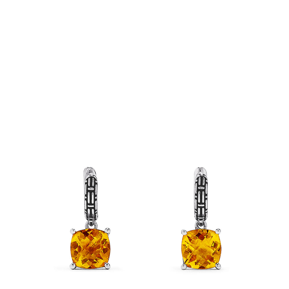 Effy 925 Sterling Silver Citrine Earrings, 4.80 TCW