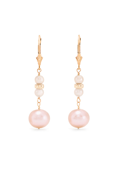 Effy 14K Yellow Gold Cultured Pearl Drop Earrings