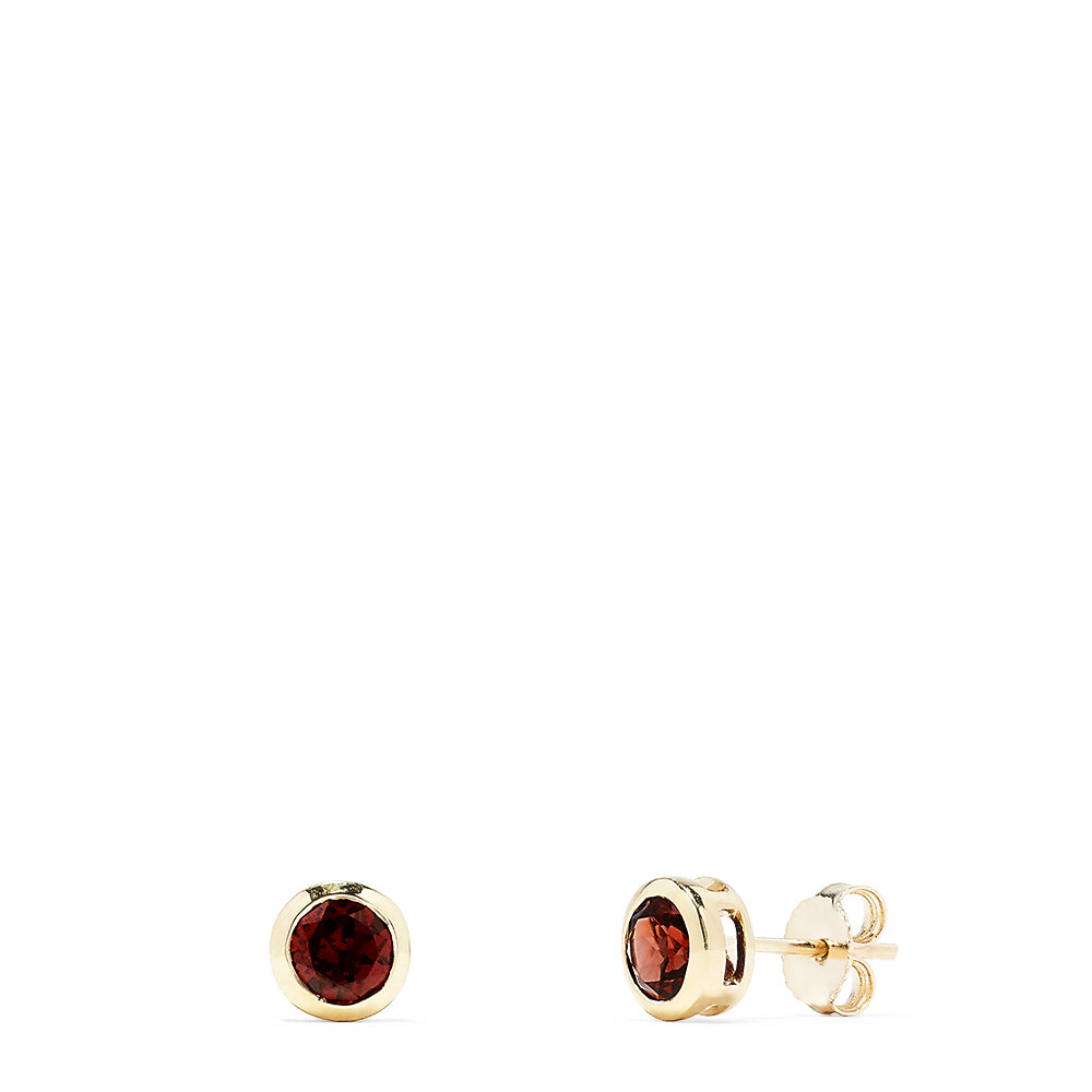 Effy Bordeaux 14K Yellow Gold Garnet Stud Earrings, 1.25 TCW