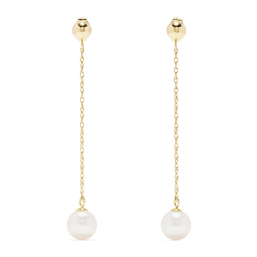 Effy 14K Yellow Gold Pearl Dangle Earrings