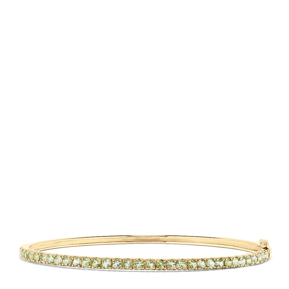 Effy 14K Yellow Gold Peridot Bangle, 2.13 TCW