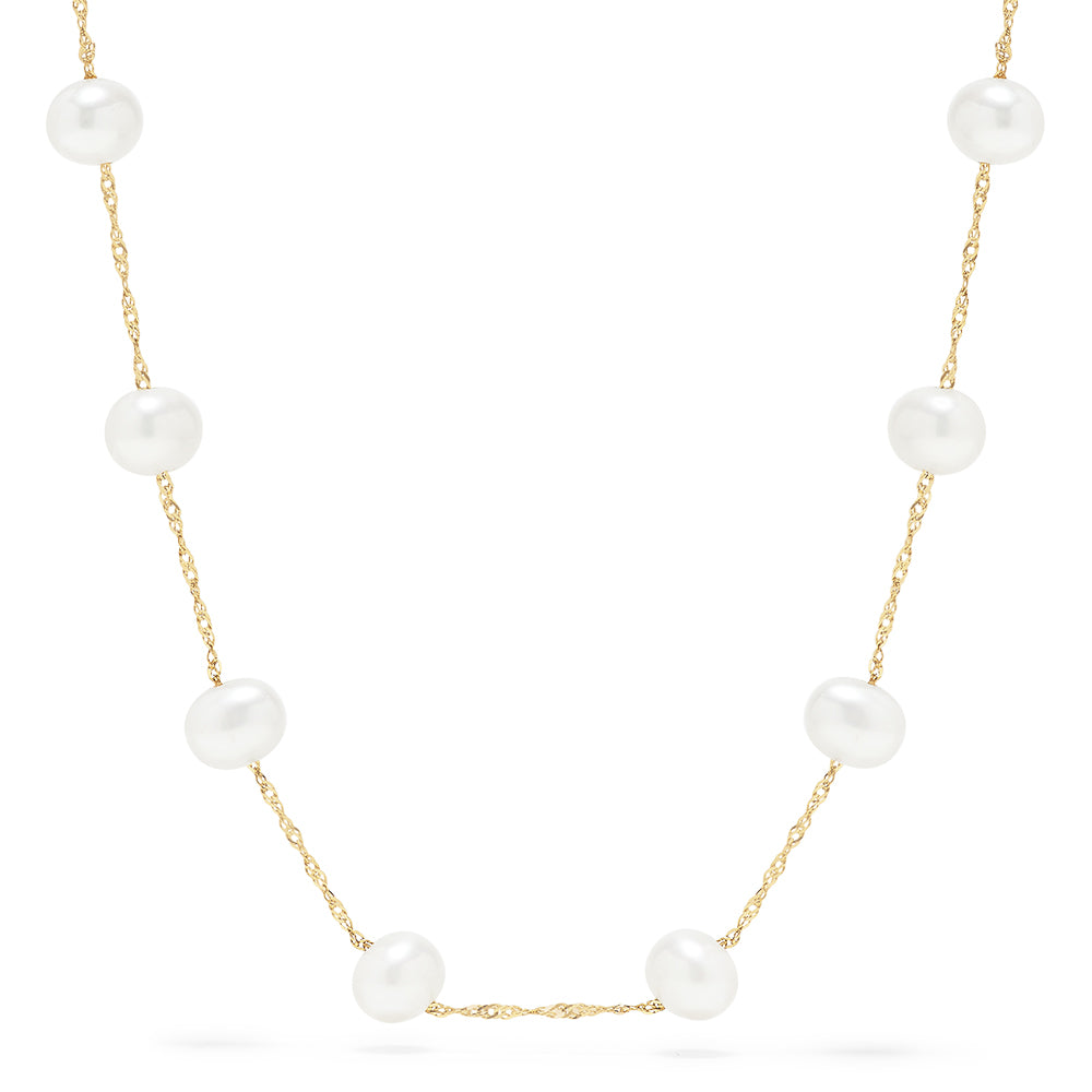 "Effy 14K Yellow Gold Fresh Water Cultured Pearl 18"" Necklace"