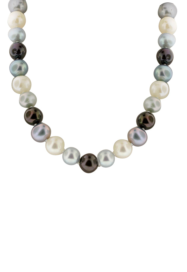 Effy 14K Yellow Gold Fresh Water Cultured Pearl Necklace - Gray
