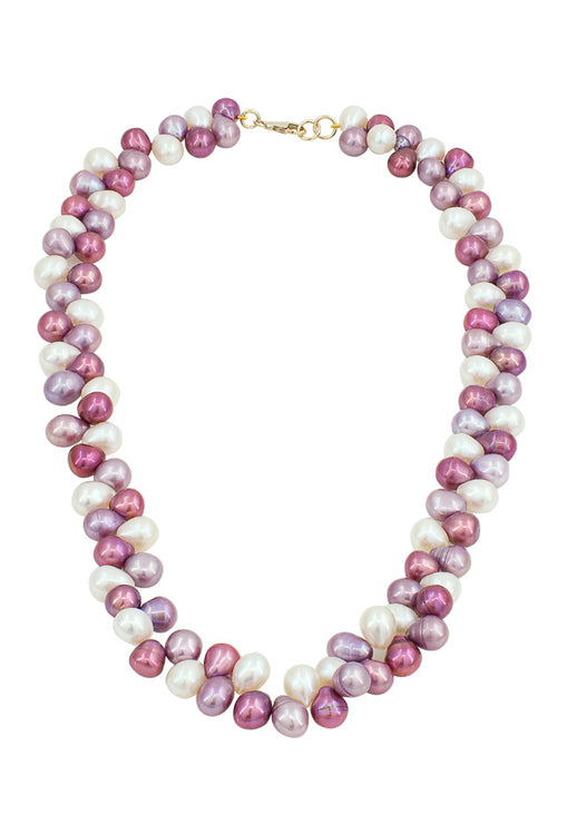 "14K Yellow Gold 18"" Multi Color Cultured Pearl Necklace"