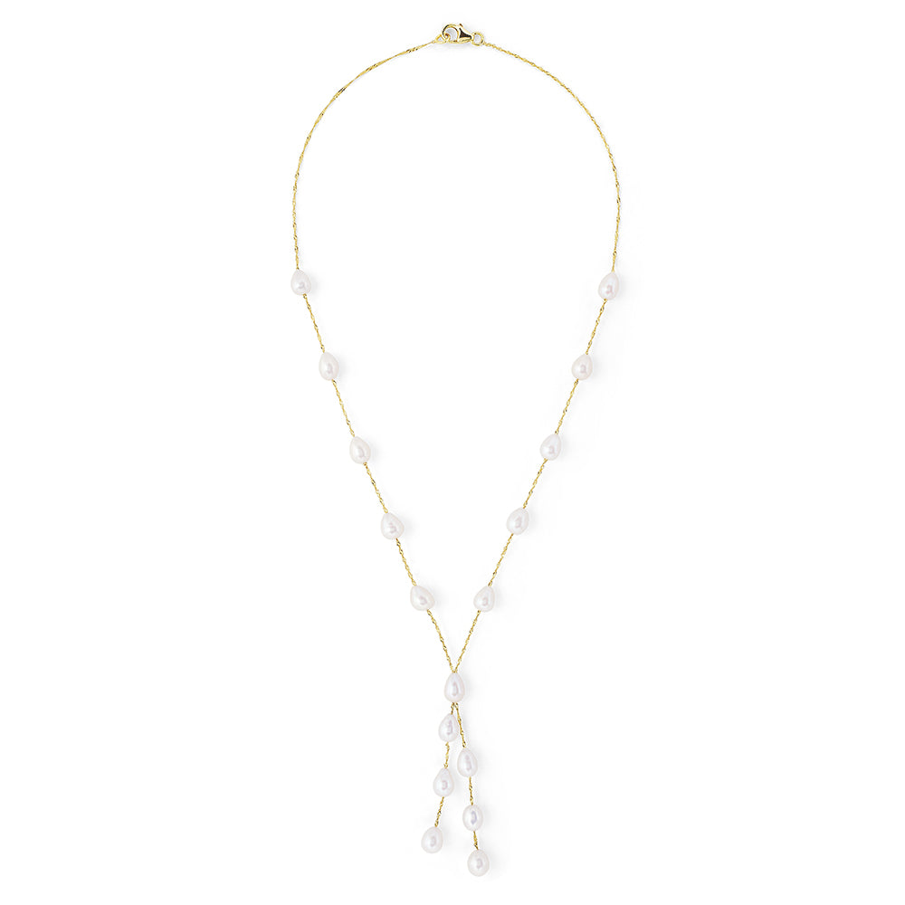 Effy 14K Yellow Gold Pearl Tassel Necklace
