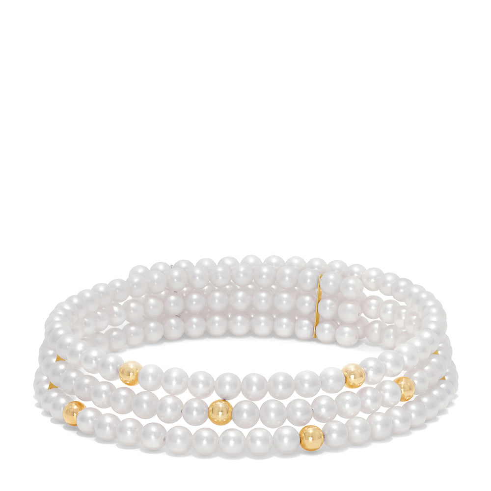 Effy 14K Yellow Gold Pearl Choker Necklace