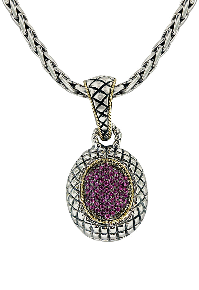 Effy 925 Sterling Silver & 18K Yellow Gold Ruby Pendant, 0.46 TCW