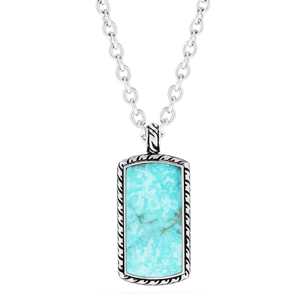 Effy Men's Sterling Silver Turquoise Pendant, 9.40 TCW