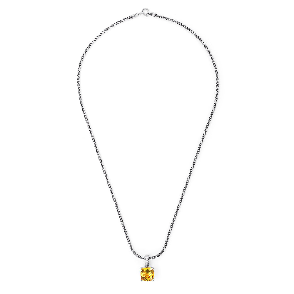 Effy 925 Sterling Silver Citrine Pendant, 5.33 TCW