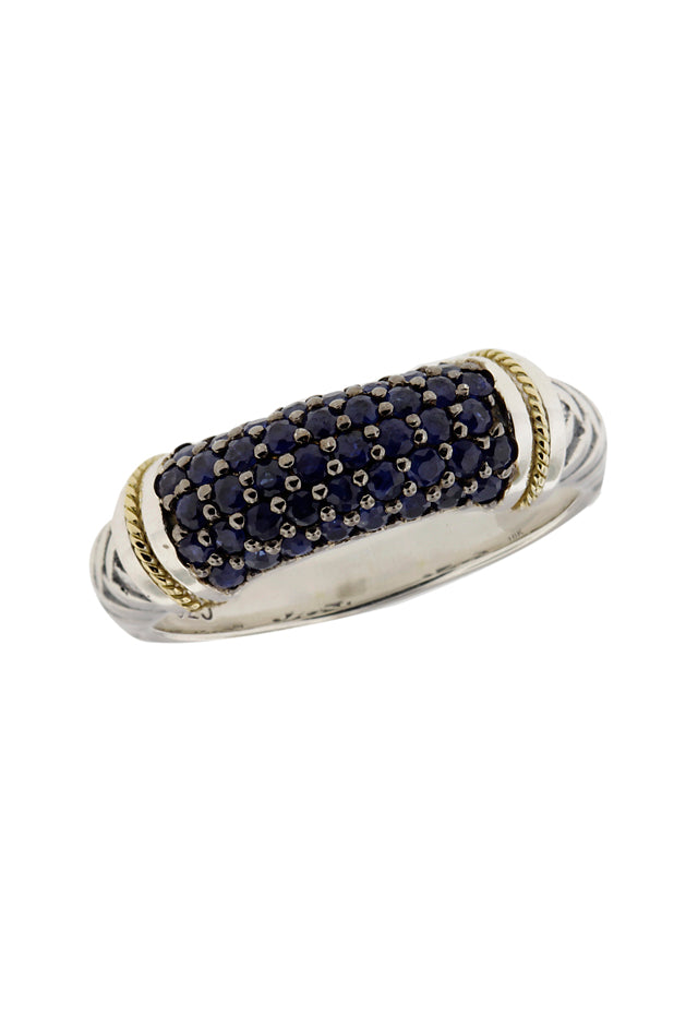 Balissima Sterling Silver & 18K Gold Sapphire Ring
