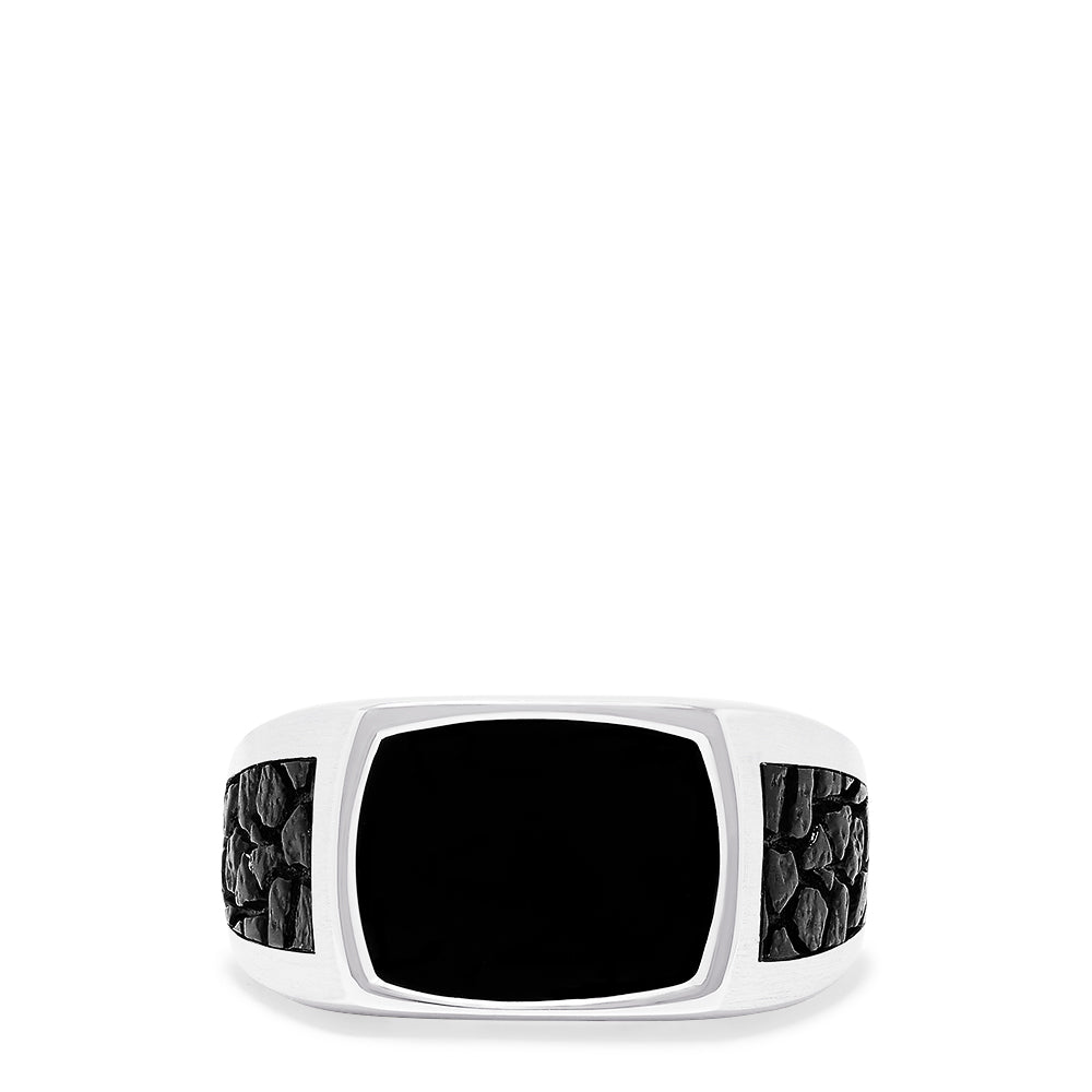 Effy Men's Sterling Silver Onyx Ring, 2.15 TCW