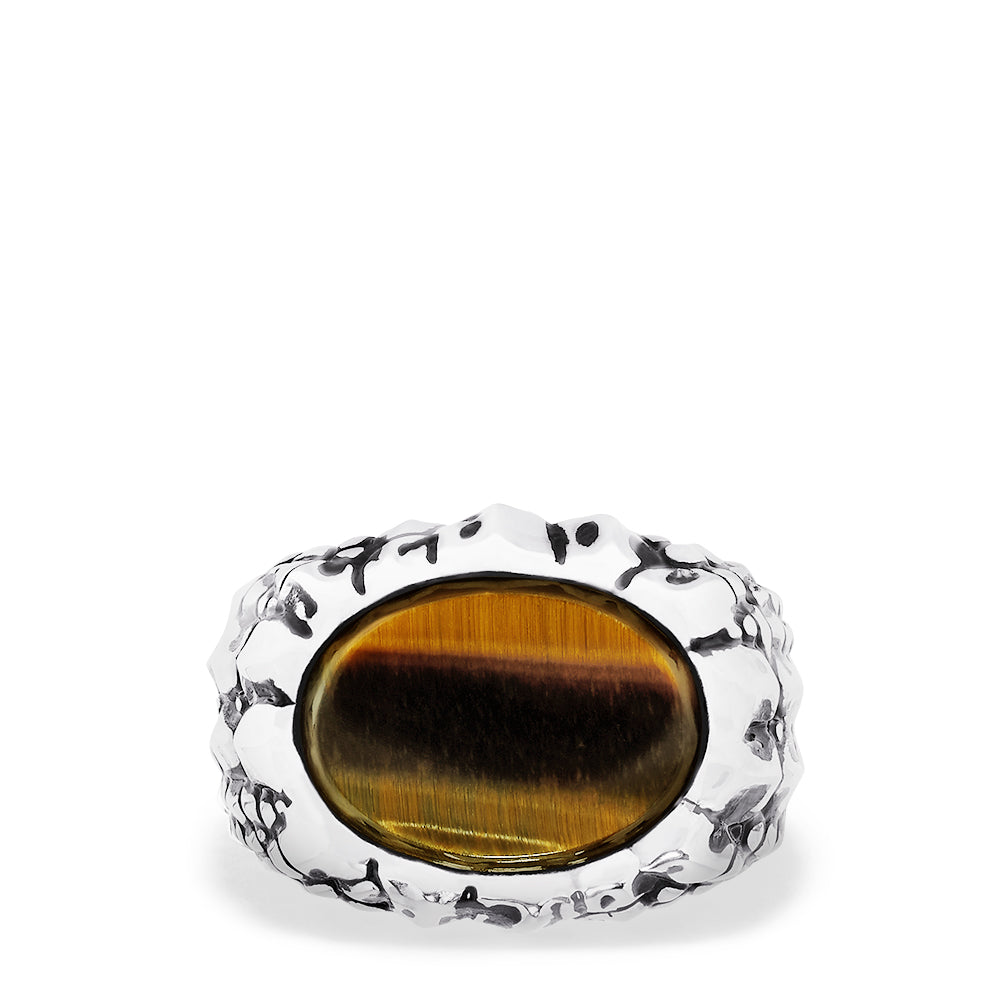 Effy Men's Sterling Silver Tiger Eye Ring, 5.0 TCW