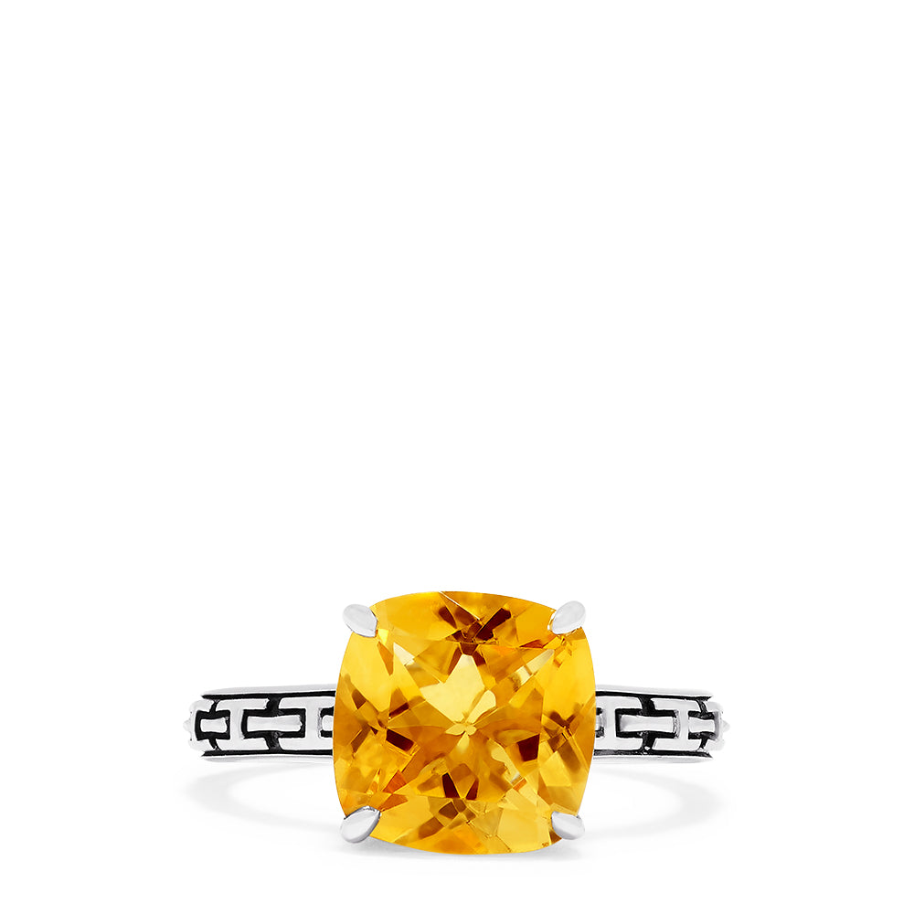 Effy 925 Sterling Silver Citrine Ring, 4.50 TCW